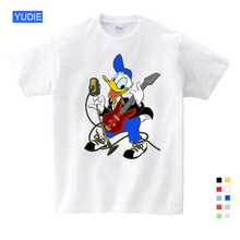 Summer Short Sleeve T Shirts Duck Donald Mickey Mouse Cartoon Children Clothes New Fashion 2019 Sport T-shirt 3T-9T