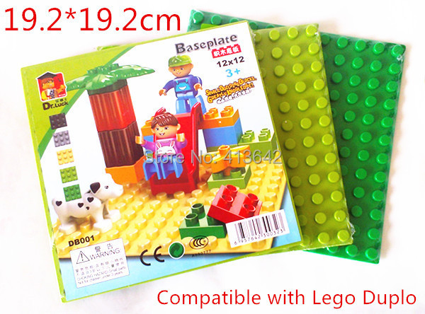 4pcs/lot! Base Plate 19.2*19.2cm for Big Blocks Building Surface Compatible with DuploE Bricks Baseplate Baby Toys Brinquedos 1pc 24 17 dots big building blocks baseplate 38 27cm bricks base plate compatible with duploe kids diy toys