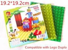 4pcs/lot! Base Plate 19.2*19.2cm for Big Blocks Building Surface Compatible with DuploE Bricks Baseplate Baby Toys Brinquedos