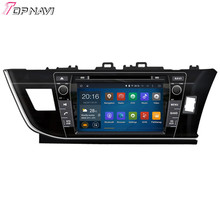 Top  Quad Core Android 5.1 Car DVD Player For TOYOTA Corolla RHD 2013-  With Wifi Bluetooth GPS Free Map16 GB Flash