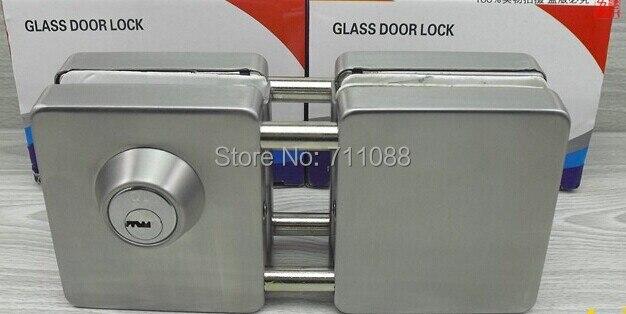 Dooren 2014 Strong luxury coupe double glass door square opening glass door lock LT6818 with copper core key