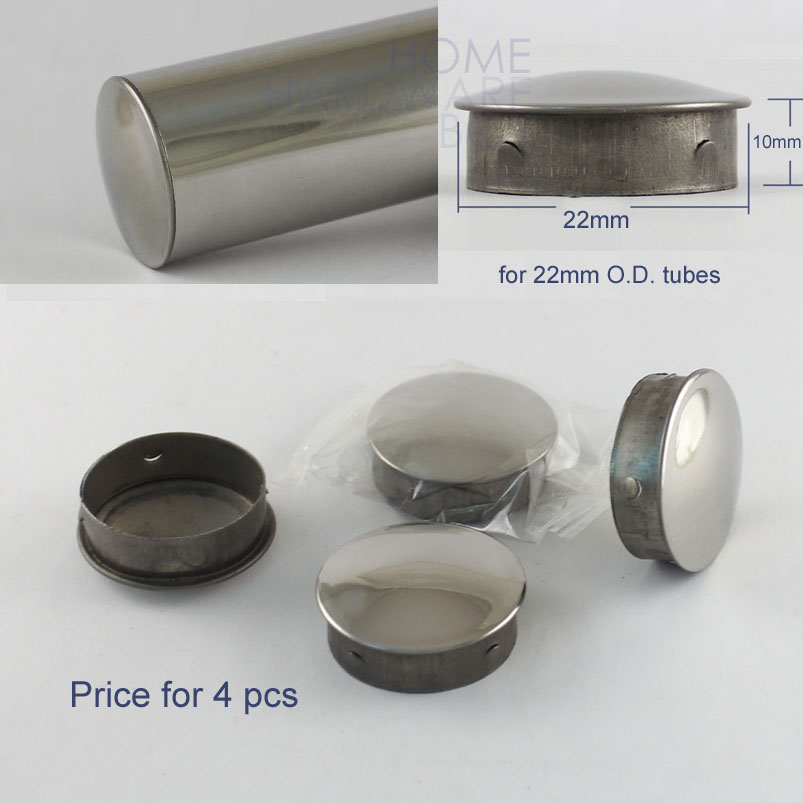 Quot o d mm stainless steel round tube end cap push