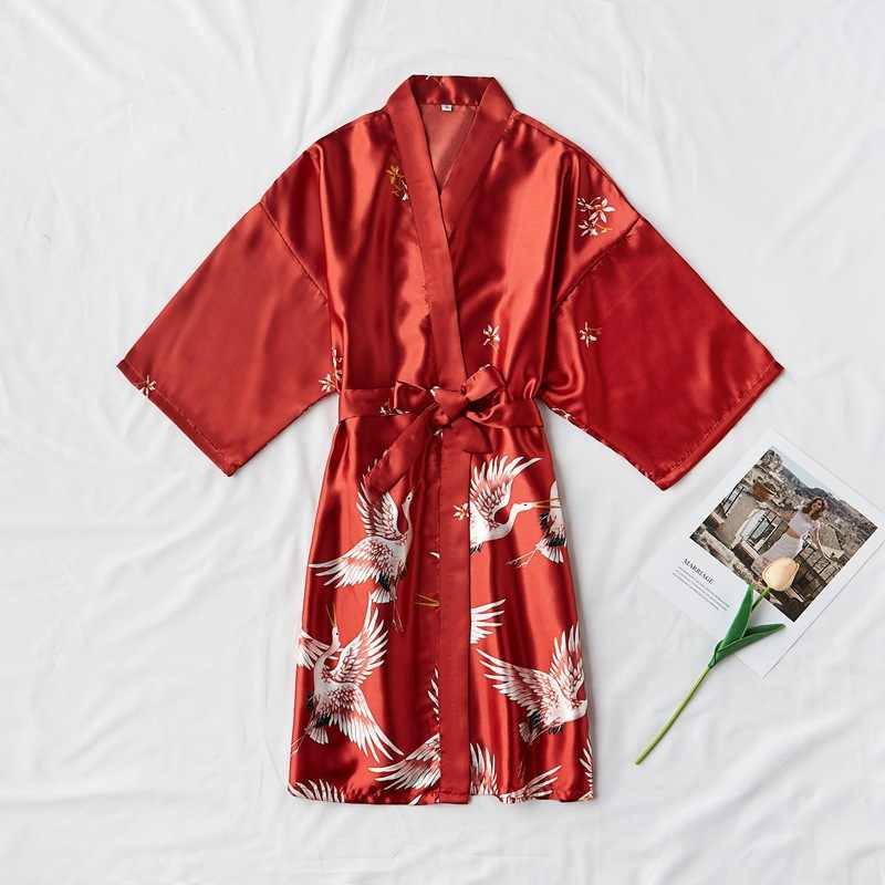 Hot Sale Rayon Pernikahan Bride Bridal Jubah Berpakaian Wanita Dewasa Bridesmaid Baju Tidur Kimono Musim Panas Jubah Mandi Baju Tidur S M L XL
