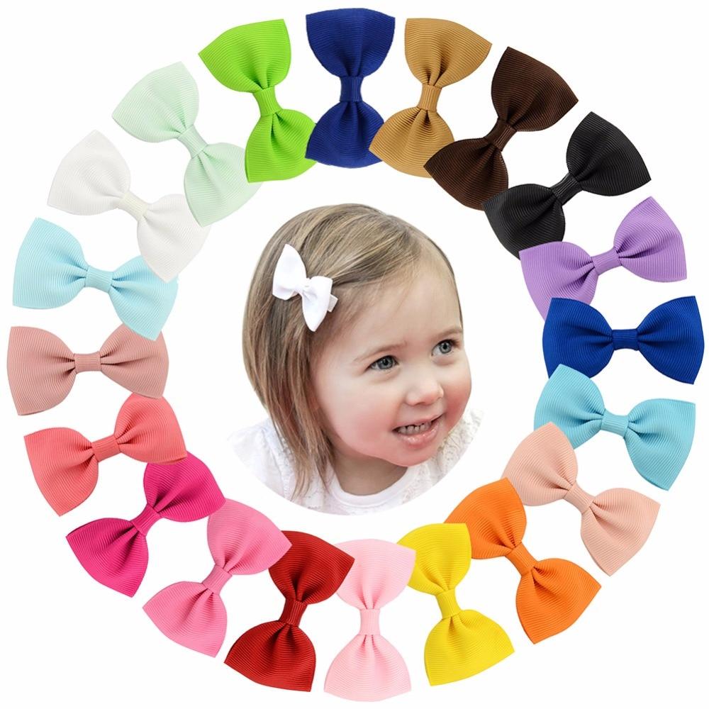 20pcs/lot Colorful Barrettes For Children Baby Girls Ribbon Hair Clip Bows Girls Hairpins Hair Accessories Hairgrip Headwear 643