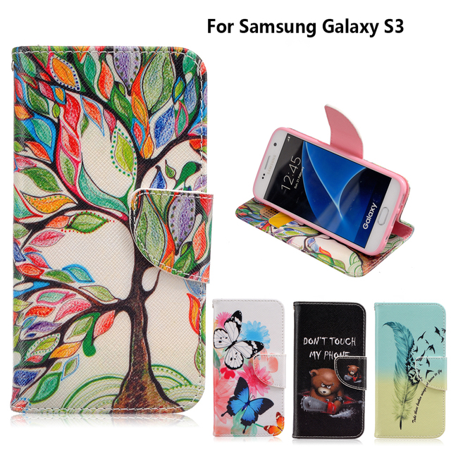 Case for coque Samsung Galaxy S3 Case S3 SIII i9300 for fundas Samsung Galaxy S3 Neo Cover Case i9300i GT-i9301 4.8 inch +Stand