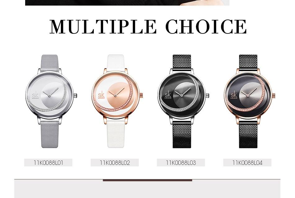 SK Shengke Rhinestone Watches For Women Brand Ladies Quartz Wrist Watch Reloj Mujer 2019 Luxury Stainless Steel Women Watch xfcs (11)