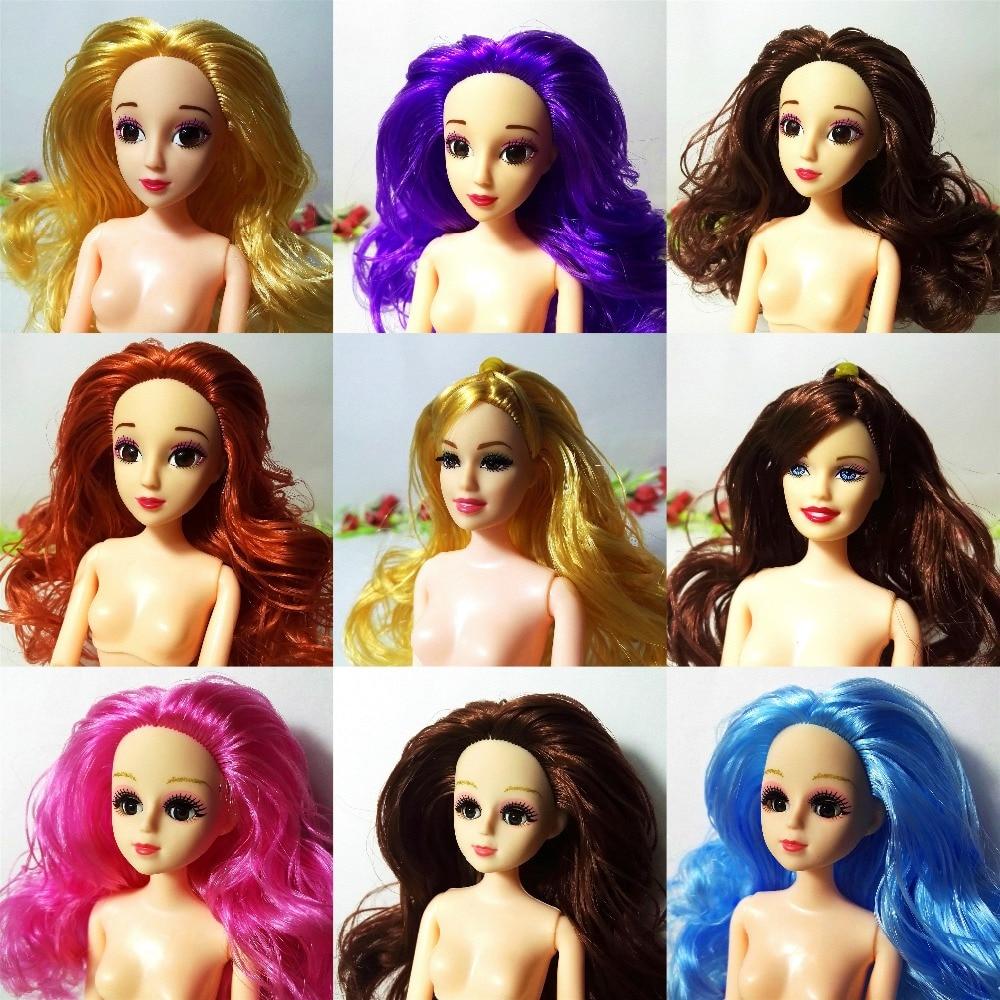 3D-s villogó szemfej 1/6 BJD DIY fej Barbie akrilszemekhez Fejhúzó ízületek test babafej játékok játékok lányoknak ajándék barbie baba