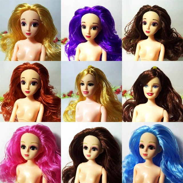 D Blink Eye Head   Bjd Diy Head For Barbie Acrylic Eyes Head Nake