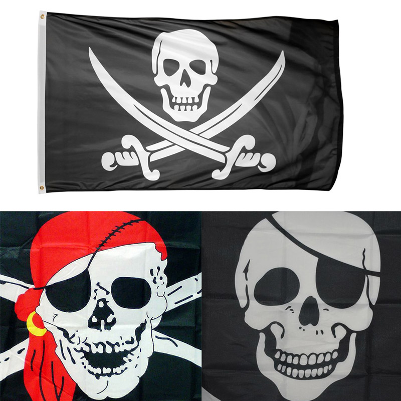 Pirate Girl Pink Flag Banner Decorationm Party Piartes Skull /& Crossbones