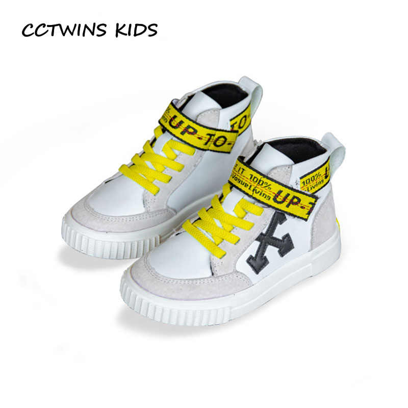 210a534a1122 CCTWINS KIDS 2018 Autumn Baby Boy High Top Sneaker Children Genuine Leather Shoe  Girl Fashion Sport