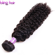 Bling Hair Mongolian Kinky Curly Hair 1 Bundle Deals Deep Curly Weave Human Hair Extension Natural Color 8″-26″ Double Weft 100g
