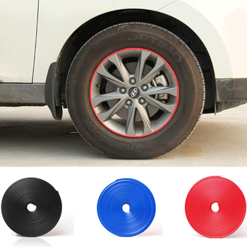 8M Car Wheel Hub Sticker Strip Rim Tire Protection Auto Accessories for Volkswagen VW Jetta MK5 MK6 Polo Scirocco Lavida Eos Bor image