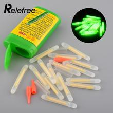Relefree 15Pcs 4 5x36mm Fishing Fluorescent Light Night Light stick Float Rod Lights Dark Glow Stick