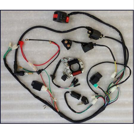 compare prices on motorcycle wiring harness online shopping buy full electrics wiring harness cdi coil 110cc 125cc atv quad bike buggy td