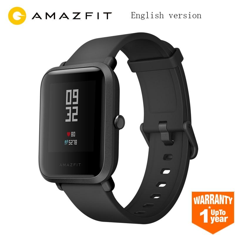 Nouveau Xiaomi Huami Amazfit Bip montre intelligente GPS Gloness Smartwatch montre intelligente 45 jours en veille pour téléphone MI8 IOS Version anglaise