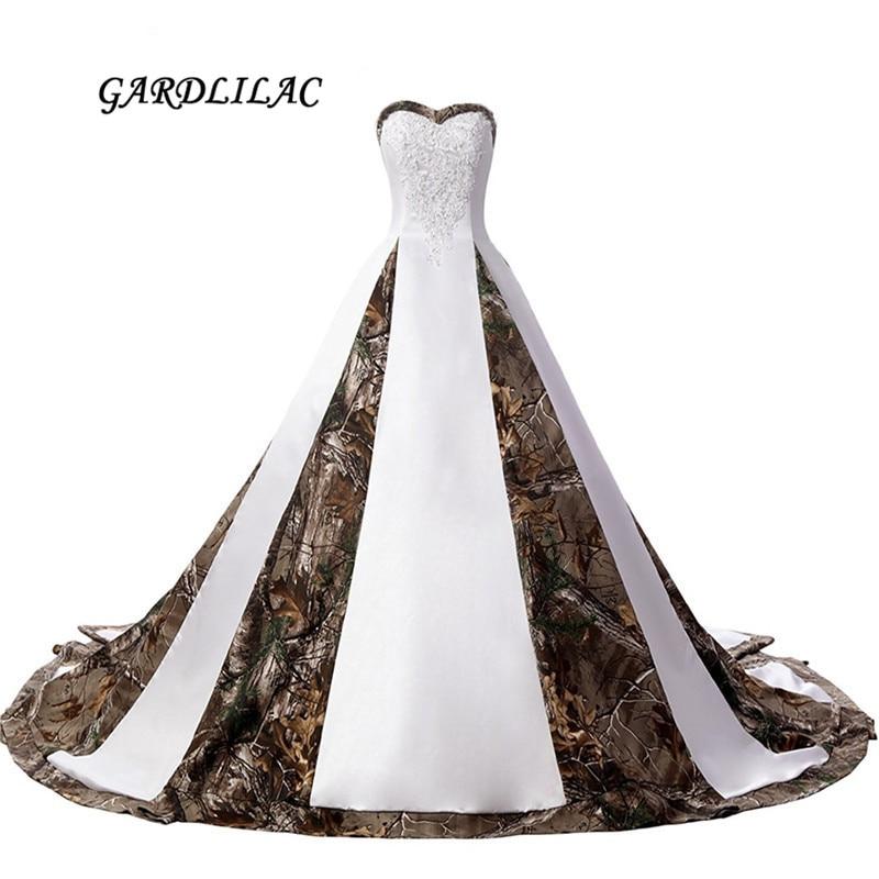 2017 جديد ريال صور الحبيب الأبيض الحرير - فساتين زفاف