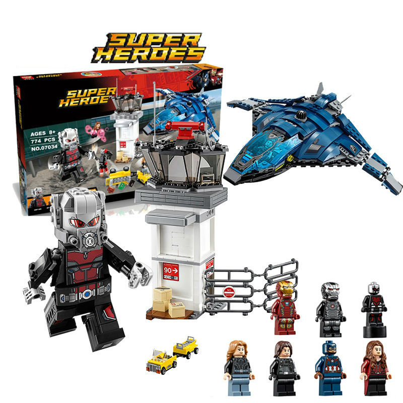 Compatible Legoinglys 76051 Classic Avengers Super Hero Airport Battle Antman Iron Man lepin 07034 807pz Blocks Brick Toys Gift 2017 hot compatible legoinglys marvel super hero avengers iron man mk series building blocks deformation armor brick toys gift