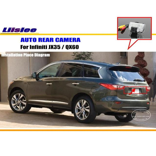 Liislee For Infiniti Jx35 Qx60 Rearview Camera Backup Parking Hd Ccd Rca Ntst Pal License Plate Light
