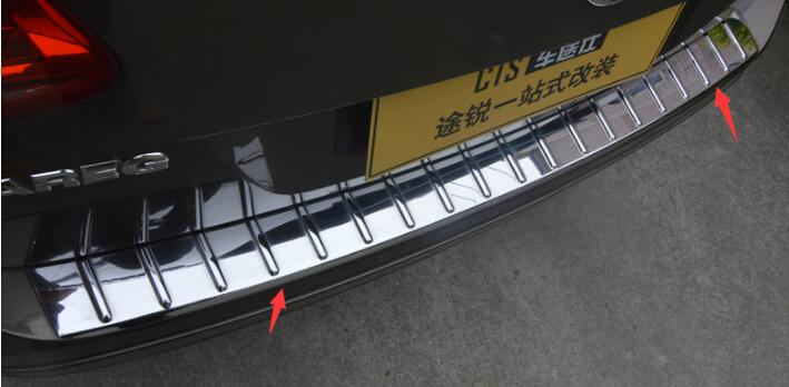 ABS plating Rear bumper Protector Sill fit for 2011-2015 Volkswagen Touareg Car styling