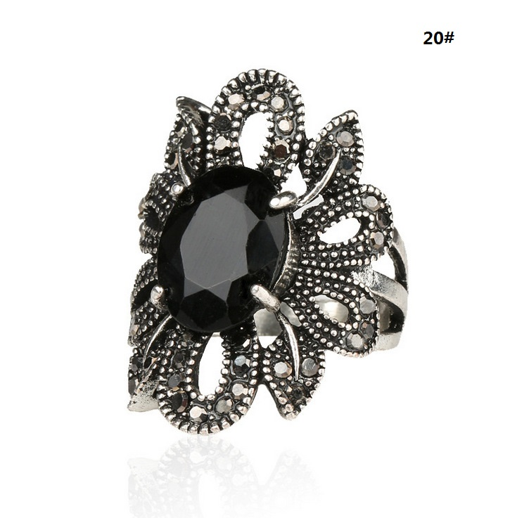 Antique Cute Cheap Discount Black CZ Rhinestone Jewelry Hollow Flowers Designs For Women Party Jewelry New