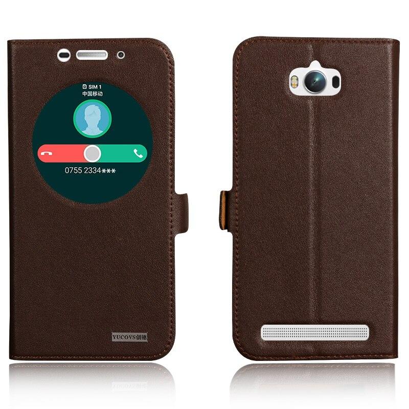 bilder für Smart Cover Fall Für Asus Zenfone Max ZC550KL 5,5 ''Top qualität Aus Echtem Leder Schlag-standplatz Handytasche + freies geschenk