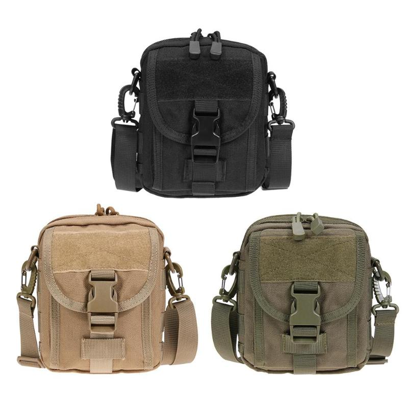 Waterproof 1000D Nylon MOLLE Sports Tactical Waist Belt Bag Shoulder Bag Outdoor EDC Pouch Portable Military Belt Waist Bag trx 500 foreman carburetor carb 2005 2011 brand new highest quality