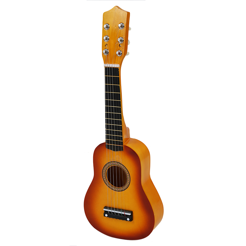 Hawaii Ukulele Mini Guitar 21 Inch Acoustic Ukulele + Plectron Instrument Toy Kids Music Toy For Children Musica Instrument Toys