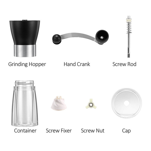 Coffee Grinder Washable Ceramic Core Handmade Mini Coffee Bean Burr Grinders Mill Kitchen Tool portable manual coffee grinder 2