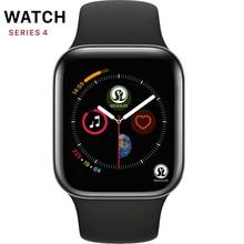50% قبالة Smartwatch سلسلة 4 بلوتوث الذكية ووتش الرجال مع مكالمة هاتفية الكاميرا عن بعد ل IOS أبل فون الروبوت سامسونج هواوي