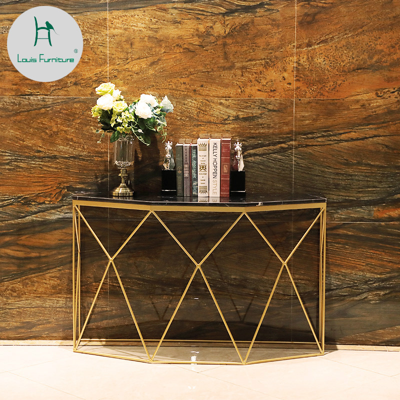 Fantastic Us 160 9 Louis Fashion Sofa Tables Golden Porch European Style Marble Nordic Living Room Door Entry Iron Art In End Tables From Furniture On Dailytribune Chair Design For Home Dailytribuneorg