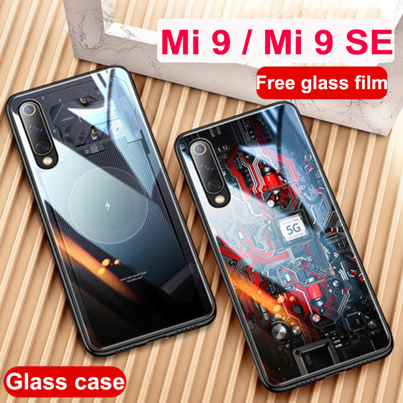 Mi9 SE Case for Xiaomi Mi 9 Case Mi9 tempered glass Anti drop Back Cover for