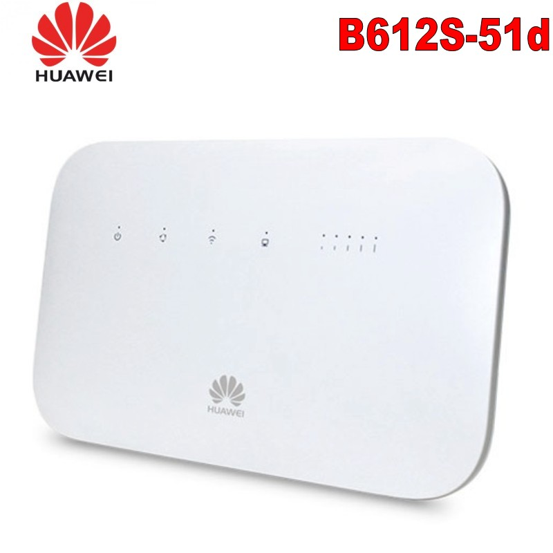 50pcs  Unlocked Huawei B612 B612s-51d Router 4G LTE Cat.6 300Mbs CPE Router 4G Wireless Router +2PCS Antenna