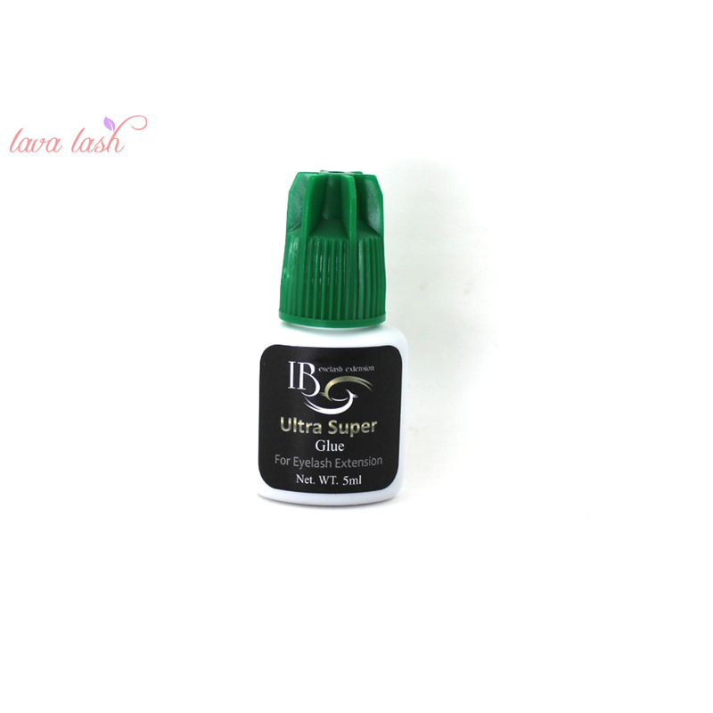 Free Shipping Private Label 10 bottles/lot IB Ultra super Glue Eyelash Extensions glue Green Cap 5ml Wholesale Order Korea Made-in Eyelash Glue from Beauty & Health