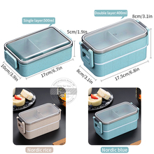 Konco Lunch Box Bento Box  Double-layer Microwave Heating