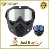 Hot Sales BEON Modulaire Masker Afneembare Bril En Mond Filter Perfect voor Open Gezicht Motorfiets Half Helm of Vintage Helmen