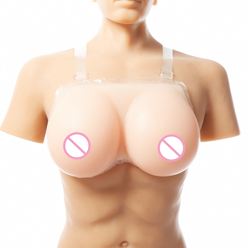 все цены на 1600g/pair Crossdress Silicone Breast forms Artificial Silicone Fake Breast Transvestites Realistic Boobs EE cup онлайн