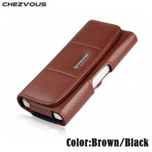 Hand made Mens Waist Pouch For iPhone 4 4s 5 5s SE Belt Clip Holster Leather Mobile Phone Cases Pouch For iPhone 6 6s 7 plus