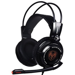 Image 2 - Somic G941 USB 7.1 Virtual Gaming Headset with Microphone Vibration Stereo Bass Game headphone LED Light for Computer PC Gamer
