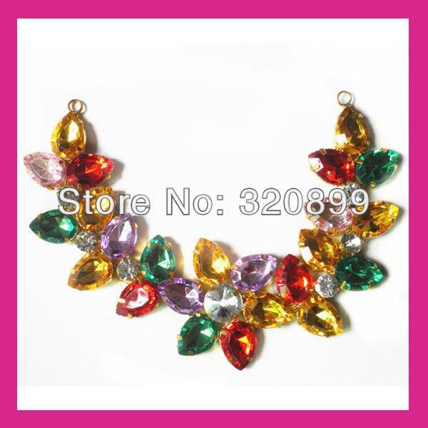 Wholesale! 50pcs/lot  Brilliant Colorful Collar Chain,Rhinestone Cup Chain For Collar  ,Garment Accessories