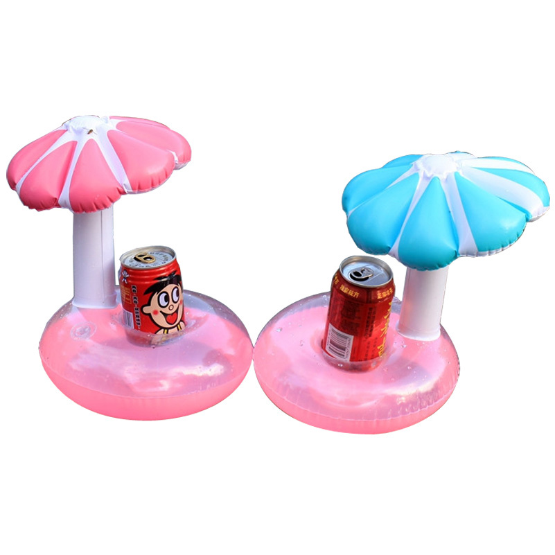 Inflatable Cup Drink Summer Pool Float Umbrella Tree Drink Cup Holder Float Mini Drink Pool Toy Outdoor Swimming Beach toy