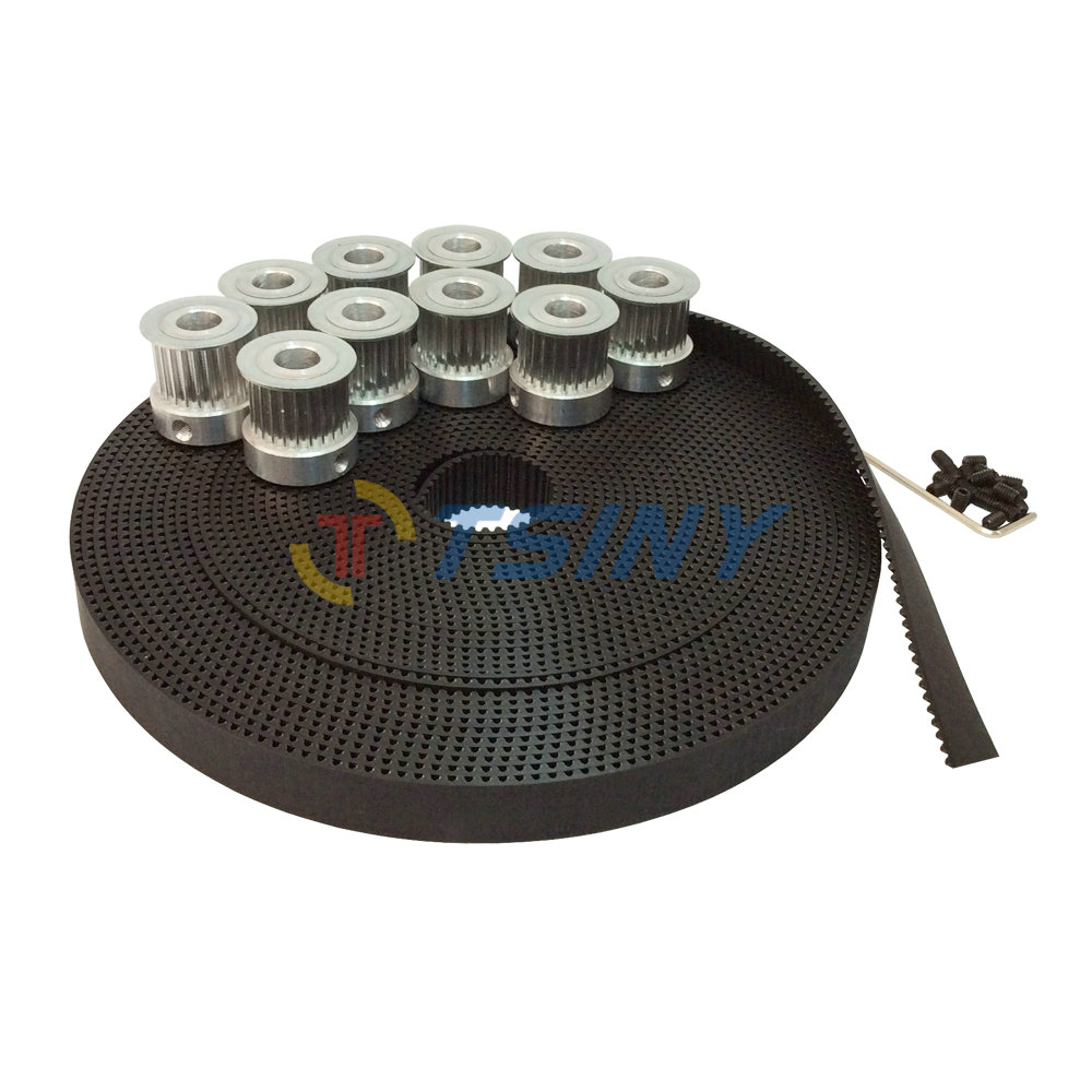 HTD 3M Timing Pulley Bore 6mm 6.35mm 8mm 10mm 12mm 14mm 24 Teeth 10pcs & 10 Meters Open Ended 3M Timing Belt Belt Width 15mm htd 3m timing belt 10 meters open ended rubber belt