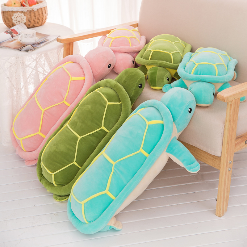 big Size Plush Tortoise Toy Eiderdown Cotton Turtle Plush Pillow Staffed Cushion for Girls Vanlentines Day Gift