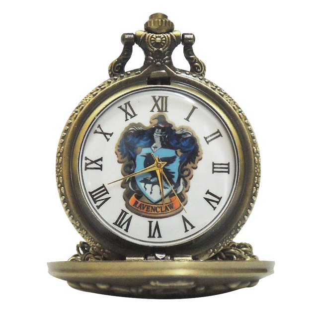 Retro Color Dial Harry Potter Hogwarts College Ravenclaw Quartz Pocket Watch Ana