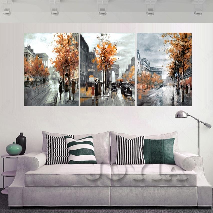 ᑐ3 unidades moderno cuadros decoracion lienzo pintura óleo cuadros ...
