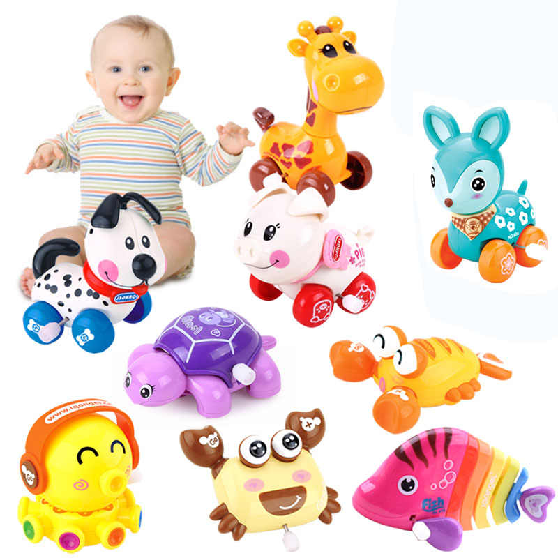 1 шт. милые Мультяшные животные заводные игрушки заводная классическая игрушка детская игрушка для новорожденных случайный цвет @ ZJF