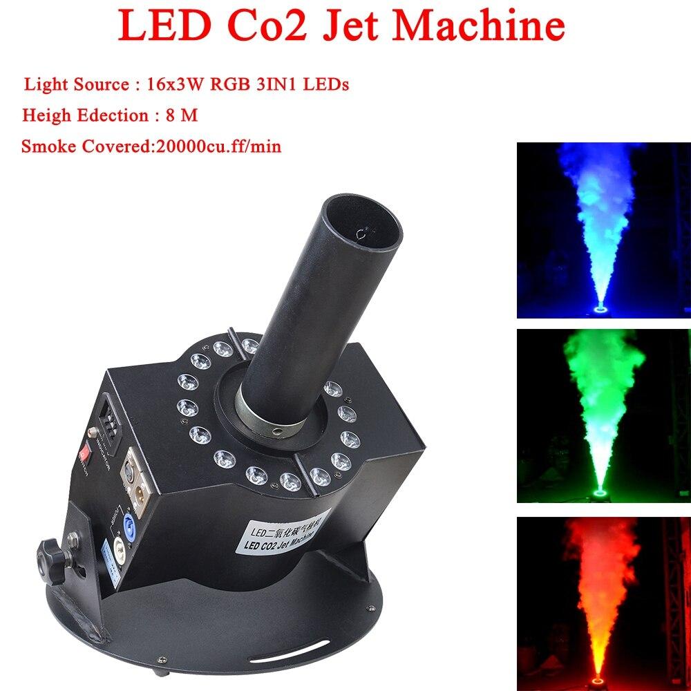 NEW Dj Equipment 100W Co2 Jet Machine 16x3W RGB 3IN1 LED Stage C18 Jet DMX C18 Jet For Wedding Bar Disco Club Stage Show