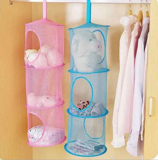 New Arrive Shelf Hanging Storage Net Kids Toy Organizer Bag Bedroom Wall Door Closet
