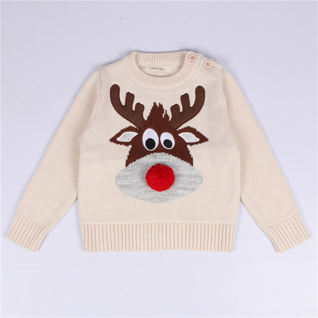 2018 Autumn Fashon Baby Boy Sweater Christmas Toddler Boy girls Pullover  Full Sleeve Boys Clothes Casual kids knitted sweater 5d4fcb11d