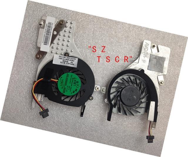 Novo original para hp compaq mini cq10 110-3000 dissipador de calor com ventilador cpu cooling fan 608772-001 ad5005hx-qd3 genuíno frete grátis
