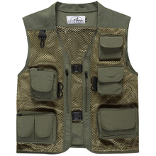 Summer Men's Camouflage Hunting Military Tactical Vest Photography Working Wear Vest Multi-pocket Mesh Fishing Vest